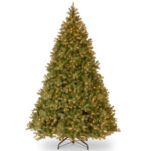 National Tree Downswept Douglas(R) Fir Tree with Clear Lights-Size:9 Ft