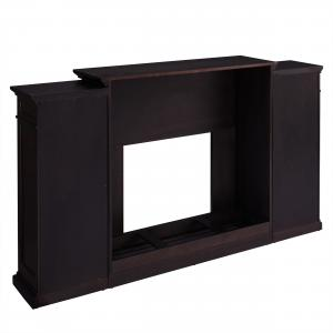 Landsmill Color Changing Fireplace w/ Bookcases