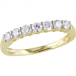 1/2 Carat T.W. Diamond 14kt Yellow Gold Semi-Eternity Anniversary Ring