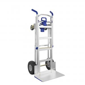 Cosco 3-in-1 Assist Series Aluminum Hand Truck w/ flat free wheels, Silver and Blue