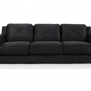 Lifestyle Solutions Taryn Curved Arm Fabric Sofa, Black