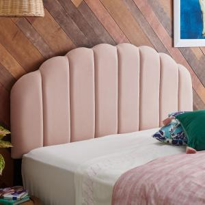 Velvet Tufted Scallop Headboard, Multiple Colors and Sizes by Drew Barrymore Flower Home