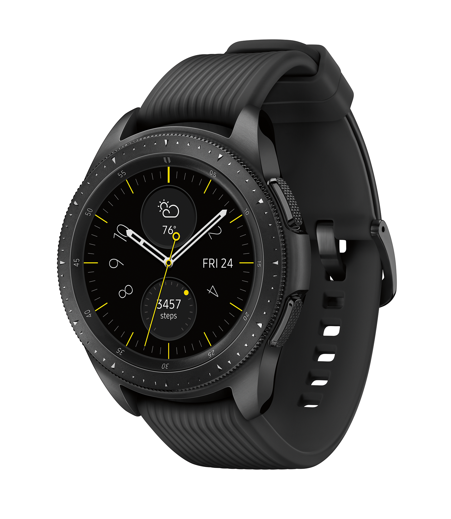SAMSUNG Galaxy Watch – Bluetooth Smart Watch (42mm) – Midnight Black – SM-R810NZKAXAR