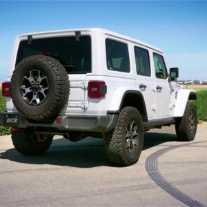 Borla 2018 Jeep Wrangler JL/JLU 3.6L 2DR/4DR Touring SS Axle Back Black Coated Exhaust w/3.5in Tips