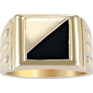 Personalized Family Jewelry Treasures Men's Ring available in 10kt and 14kt Yellow and White Gold