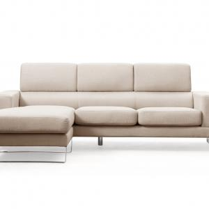 US Pride Furniture Modern Fabric Upholstered 2-Pc Configurable Left or Right Facing Sectional Sofa, Beige