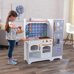 KidKraft Mosaic Magnetic Play Kitchen with 8 Piece Accessory Play Set