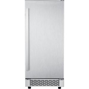 Hanover Luxury Series 15 In. Stainless Steel Undercounter Ice Maker with Reversible Door and Touch Controls