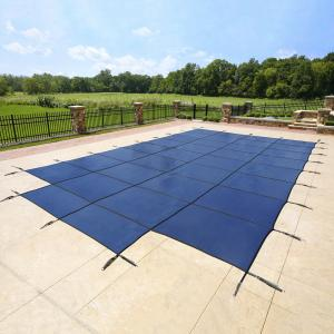 Blue Wave 16′ x 32′ Rectangular Mesh In-Ground Pool Safety Cover with 4′ x 8′ Center Step – Blue