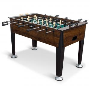 Classic Sport Newcastle Foosball Table, Brown Wood Finish, 54 in., Official Competition-Sized Soccer Table