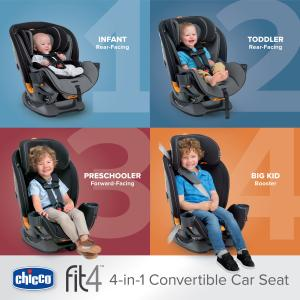 Chicco Fit4 4-In-1 Convertible Car Seat, Onyx
