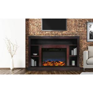 Cambridge Seville 47″ Electric Fireplace Mantel Heater with Multi-Color LED Flame Display