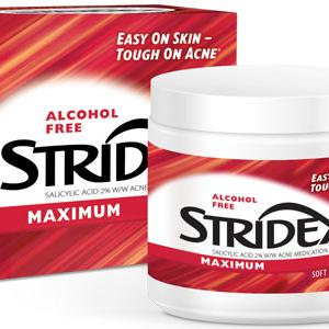 (2 pack) Stridex Maximum, Acne Medication Pads, 2% Salicylic Acid, 90 Count