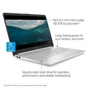 HP 15.6″ i3 Touch 8GB/256GB Laptop-Silver
