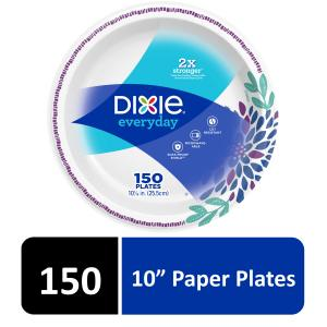 Dixie Everyday Paper Dinner Plates, 10″, 150 Count