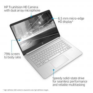 HP 14 14″ HD, Intel Core i5-1035G1, Intel UHD Graphics, 8GB SDRAM, 256GB SSD, Natural Silver, Windows 10, 14-dq1059wm