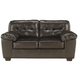 Flash Furniture Signature Design by Ashley Alliston Loveseat in Chocolate Faux Leather