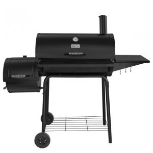 Royal Gourmet CC1830S Charcoal Grill with Offset Smoker, 800 Square Inches, Black, Outdoor Camping