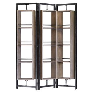 Arlo Large Screen Shelf Antiqued Steel