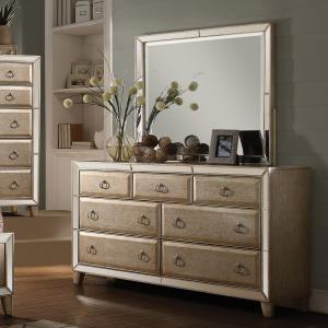 Acme Furniture Voeville Antique Silver Dresser with Seven Drawers