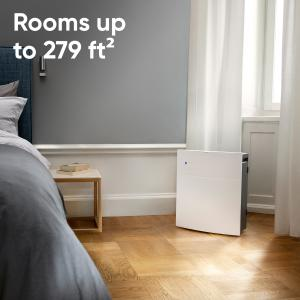 Blueair Classic 205 Air Purifier with HEPASilent Filtration for Allergen Reduction, Small Rooms 279 sq. ft. WiFi Enabled, ALEXA compatible