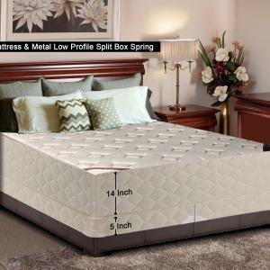 WAYTON, 14-Inch Firm Double sided Tight top Innerspring Mattress And 4-Inch Split Metal Box Spring/Foundation Set, No Assembly Required, Good For The Back, Queen Size 79″ x 59″