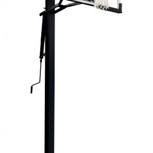 Silverback 54″ In-Ground Height-Adjustable Basketball System with Tempered Glass Backboard, Anchor Mounting, and 5-year Limited Warranty