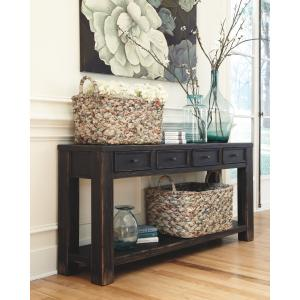 Signature Design by Ashley Gavelston Sofa Table Black