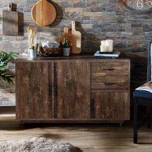 Furniture of America Peter Multi-Storage Buffet, Reclaimed Oak