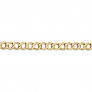 Primal Gold 14 Karat Yellow Gold 6.5mm Semi Solid Curb Link Chain