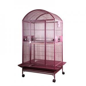 A and E Cage Co. 40″x30″ Dome Top Cage – Burgundy