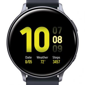 SAMSUNG Galaxy Watch Active 2 Aluminum Smart Watch (44mm) – Aqua Black – SM-R820NZKAXAR