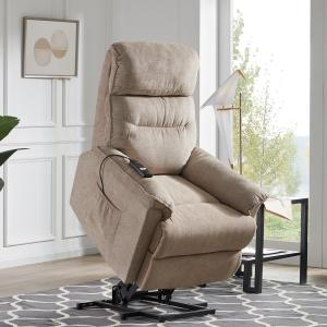 EUROCO Power Lift Chair Soft Fabric Upholstery Recliner Living Room Sofa Chair with Remote