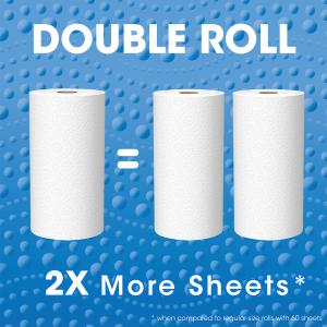Great Value Ultra Strong Paper Towels, Split Sheets, 12 Double Rolls