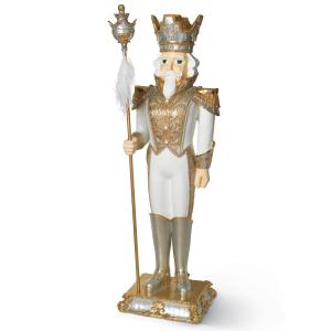 Gerson 70-inch Tall Resin Toy Soldier Nutcracker Statue