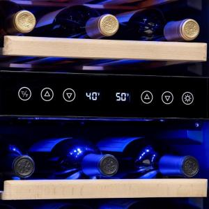 Dual Zone 15 in. 29-Bottle Built-In Wine Cooler Fridge with Recessed Kickplate and Quiet Operation – Stainless Steel