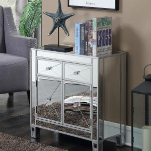 Convenience Concepts Gold Coast Vineyard 2 Drawer Mirrored Hall Table, Multiple Colors