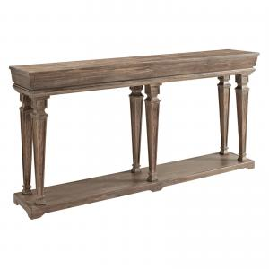 Powell Benjamin Console Table, Driftwood Finish
