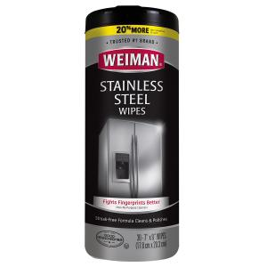 Weiman Stainless Steel Cleaner Wipes – 30 Count