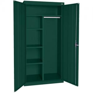 Elite Series Combination Cabinet with Adjustable Shelves, 46″W x 24″D x 72″H, Forest Green