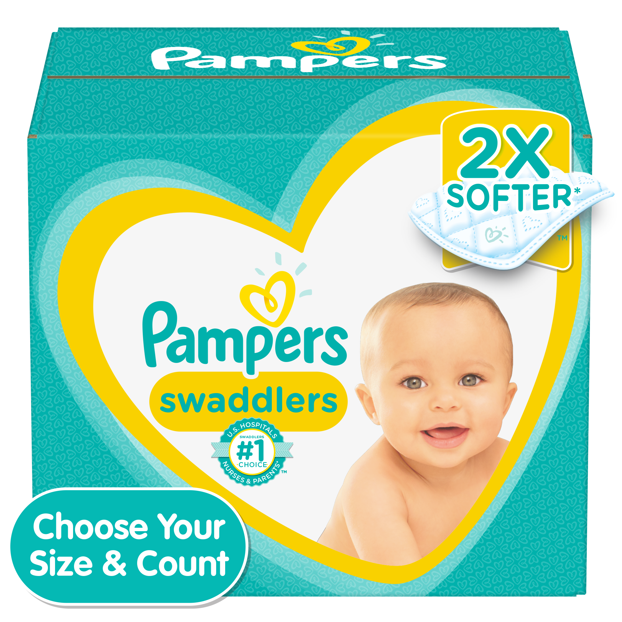 Pampers Swaddlers Diapers, Soft and Absorbent, Size 3, 136 ct