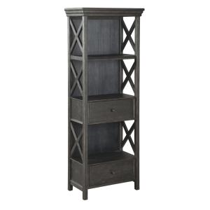 Signature Design By Ashley – Tyler Creek Display Cabinet – Casual Style – Black/Gray