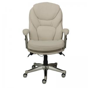 Serta Works Executive Leather Office Chair with Back in Motion Technology