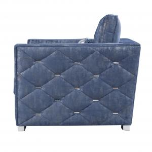 Emilia Chair with 1 Pillow in 2-Tone Blue Fabric