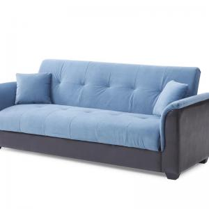 Leonel Signature Champion Sofa Bed, Blue