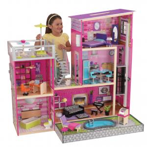 KidKraft Wooden Uptown Dollhouse with 36 Accessories Included