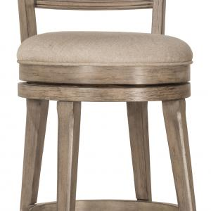 Hillsdale Furniture Chesney Wood Counter Height Swivel Stool, Weathered Gray