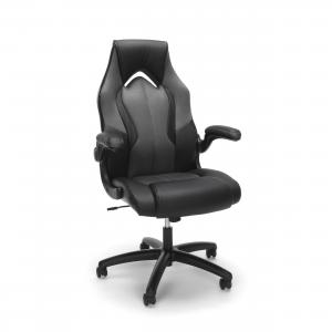 OFM Essentials Collection High-Back Racing Style Bonded Leather Gaming Chair (ESS-3086), Gray