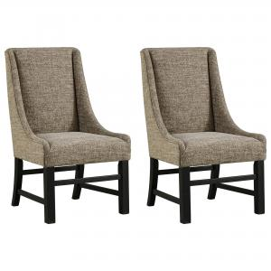 Signature Design by Ashley Sommerford Dining Arm Chair Set of 2 Black/Brown