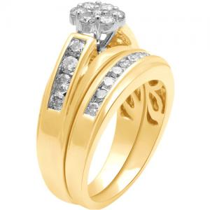 1 Carat T.W. Diamond 10kt Yellow Gold Bridal Set